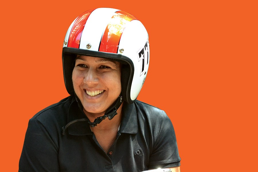 Helmet Girl- Lisa Sadanah